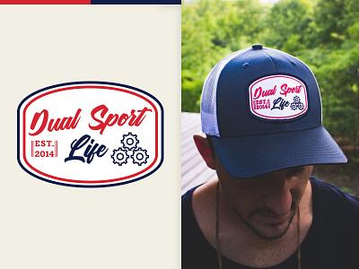 Garage Hat outdoors mountains hat motorcycle dual sport mark logo illustrator design atlanta identity branding