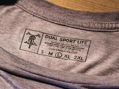 Dual Sport Life Woods Tag outdoors mountains shirt motorcycle dual sport mark logo illustrator design atlanta identity branding