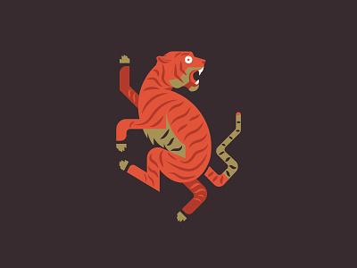 Tiger tiger minimal mark logo icon illustration design