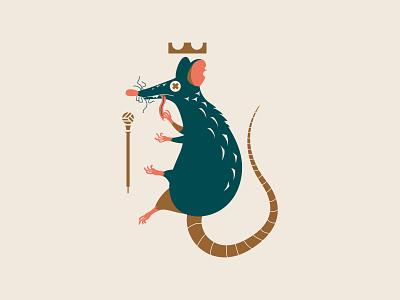 Rat King king rat vector logo illustrator illustration design