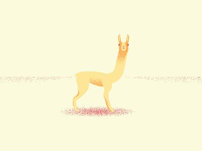 llama vector grain minimal animal llama logo illustration