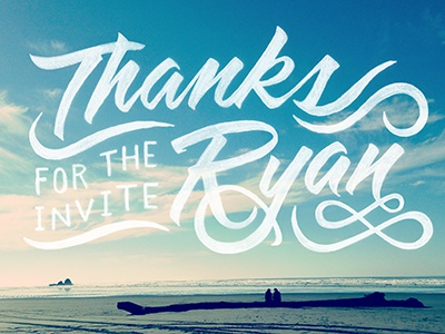 Thanks Ryan! debut thanks tombow lettering typography photography type hand drawn script