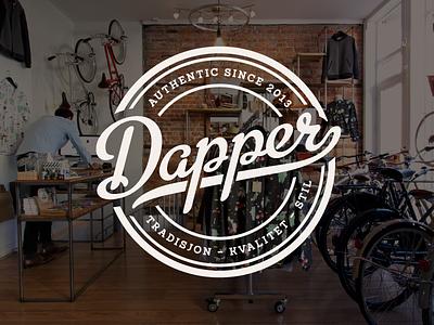 Dapper script hipster badge logo