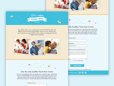 JetBlue Native Promotion mothers day web ui promotion landing page desktop