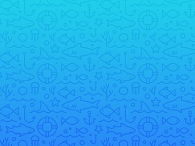 Shark Tank Pattern shark seamless sea pattern ocean monoline illustration background