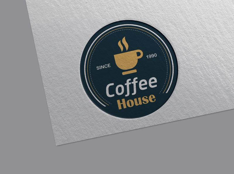 Coffee House Logo Design brand branding design brand identity brand design logo design logodesign logotype logos icon design branding logo illustration adobe illustrator
