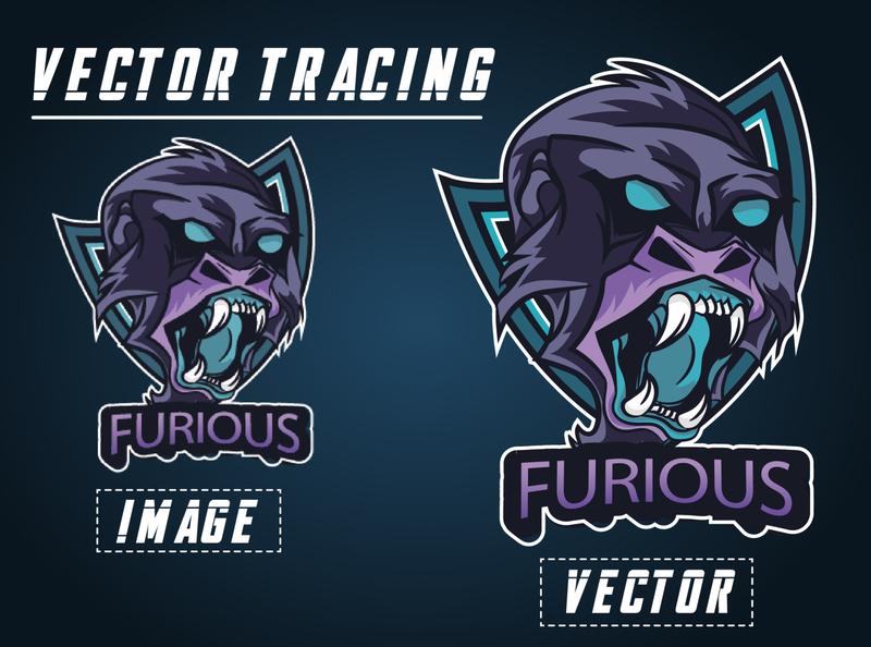 Furious Logo redraw/vector tracing banner design adobe photoshop icon vector vectors vector illustration typography design logo branding illustration adobe illustrator
