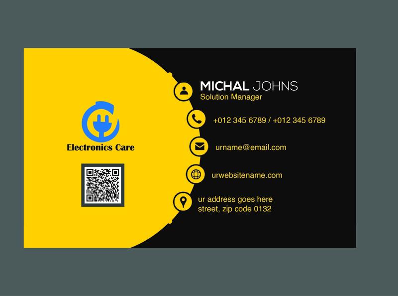 One Page Business Card flyer design banner design banner flyer button business card design business cards business card businesscard business design logo branding illustration adobe illustrator