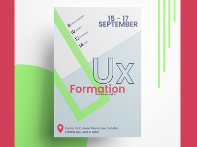 Poster design idea poster design colors design thinking formation ux design poster
