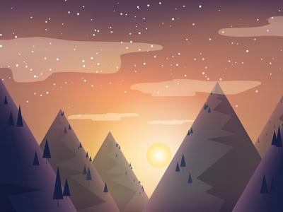 Sunset Doodle