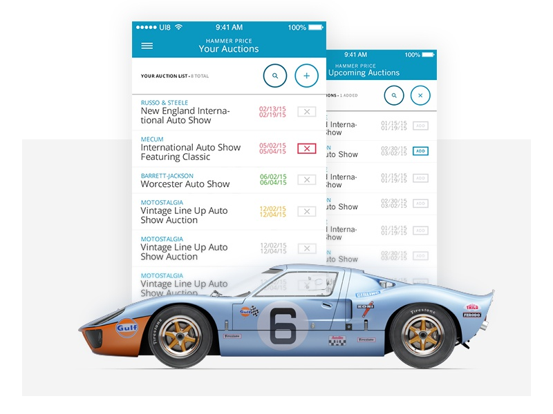 Auto Auction App ux ui auto car ios mobile app auction