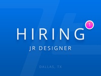 Hiring Jr Product Designer