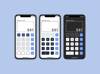 Daily UI Challenge 004 Calculator
