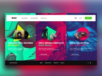 Wax Website Concept