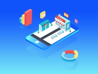 Ecommerce Shop Analytics Illustration