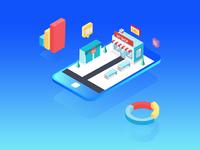 Ecommerce Shop Analytics Illustration