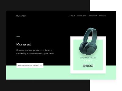 Header Exploration user interface web vector ui typography landing interface hero flat header design color