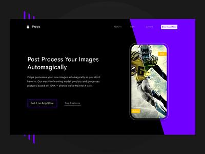 Product Header user interface web vector ui typography landing interface hero header flat design app