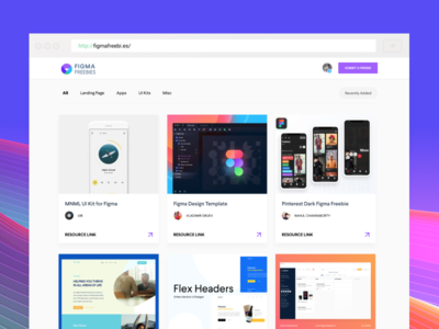 Figma Freebies minimal clean layout page landing web card resources freebies freebie figma