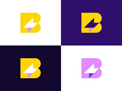 Bolt Branding thunder brand branding app invoice bolt symbol mark logo icon design
