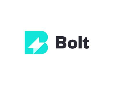 Bolt Branding Logo thunder brand branding app invoice bolt symbol mark logo icon design