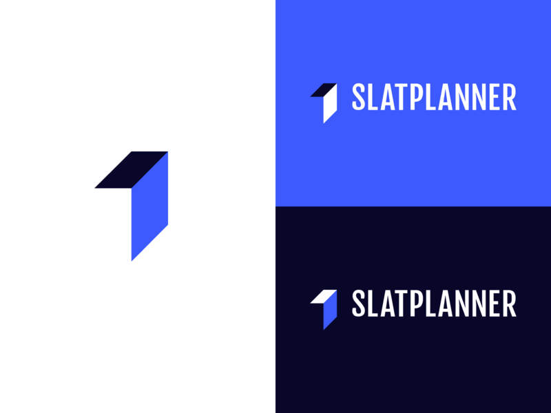 Slatplanner Branding arrow project management brand branding minimal icon vector logo design