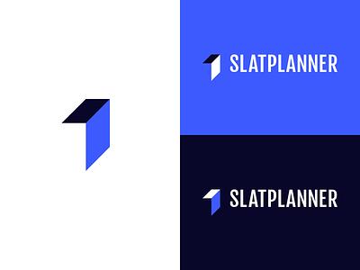 Slatplanner Branding arrow project management brand branding minimal icon vector logo design
