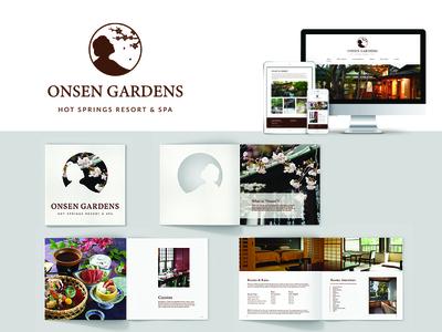 Onsen Gardens (Logo, Website & Brochure)