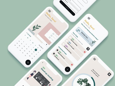 Task Garden: Productivity App task production organized task list productivity design ui mobile app mobile illustration productivity app