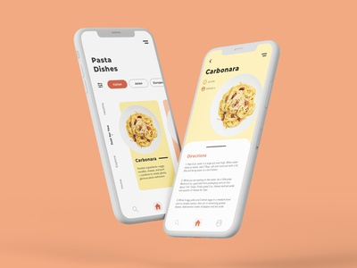 Recipe App userinterfacedesign userexperience uidesign uxdesign recipes cooking app recipe app ui mobile mobile app design