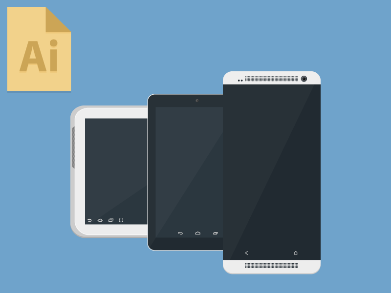 Freebie: Android Devices freebie free .ai android tablet nexus samsung htc
