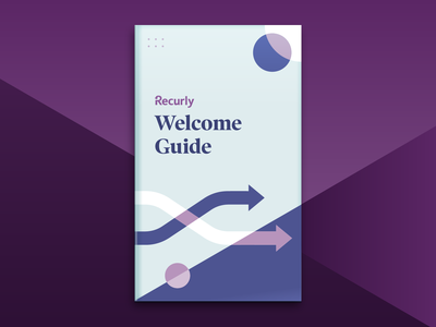 Recurly Welcome Guide team internal circles book arrows abstract new hire onboarding collateral guide