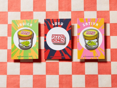 Pizza Bones Pins cute indica sativa stoner 420 weed pins enamel enamel pin