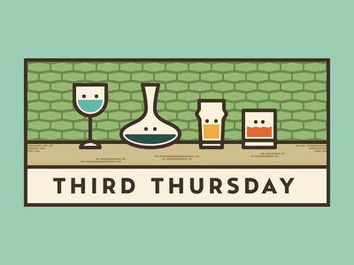 Third Thursday whiskey beer decanter wineglass wine