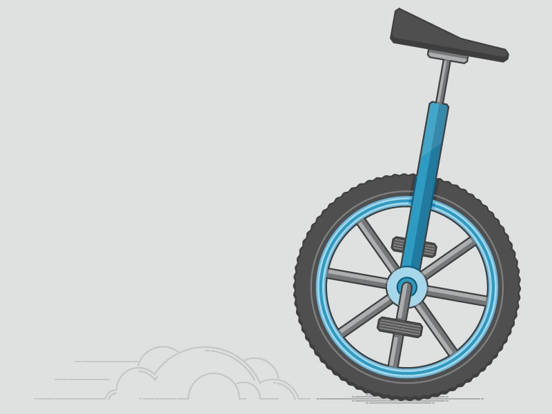 Unicycle dribbble
