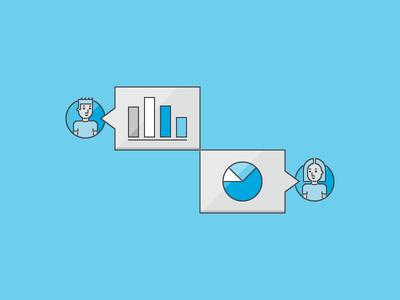 Data Conversation conversation bar graph graph pie chart dashboard