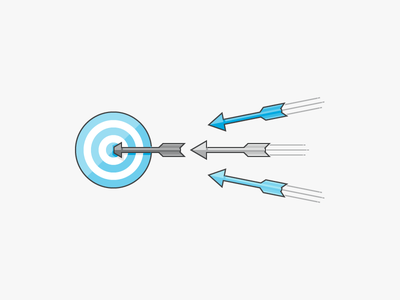 Aligned Targets archery target arrows