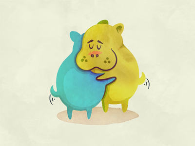 Huggin' Hippos childrens book cute love tender hug