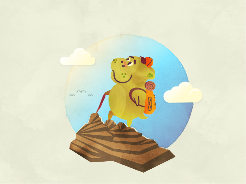 Hikin' Hippo nature childrens book backpack mountain hiking