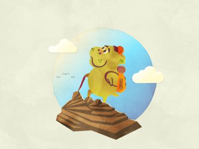 Hikin' Hippo nature childrens book backpack mountain hiking