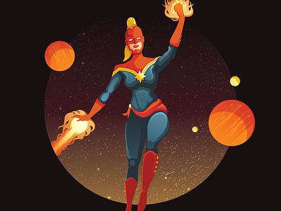Captain Marvel space comics superhero heroine