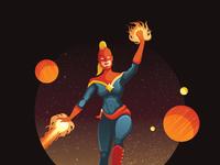 Captain marvel dribbble attachment