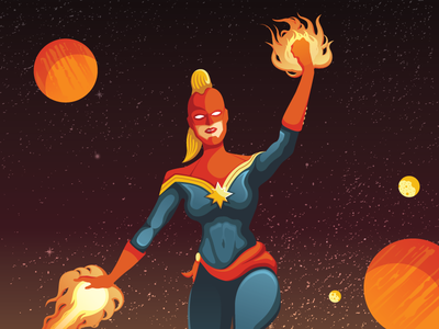 Captain Marvel space comics superhero heroine