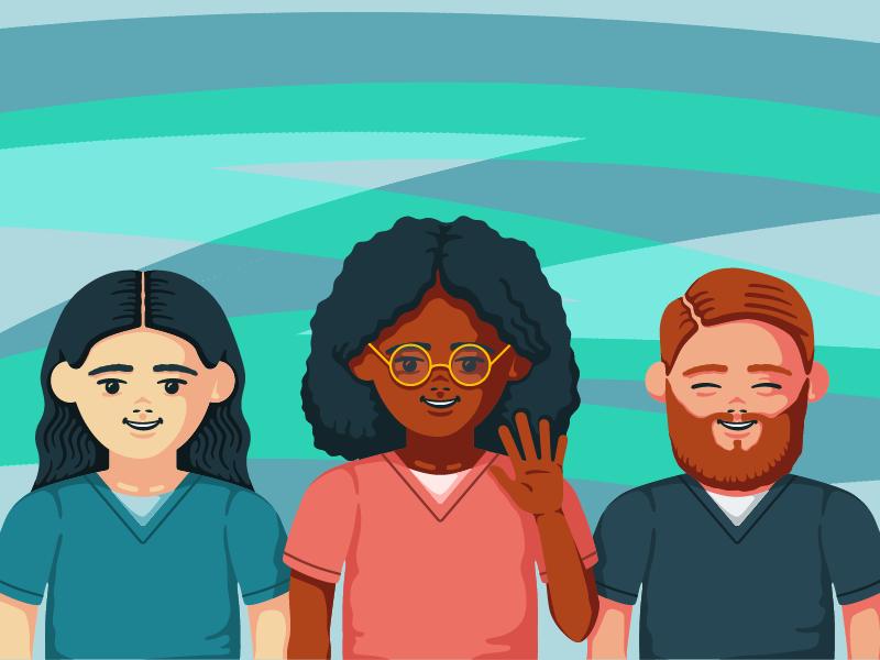 Happy Nurses nurse vector cute people