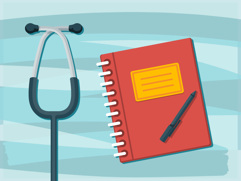 Stethoscope & Notebook vector pen notebook stethoscope