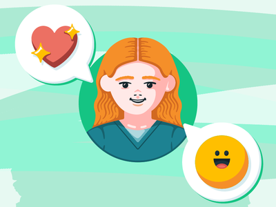 Nurse with Emojis people vector flat emoji nurse