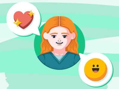 Nurse with Emojis people vector flat emoji nurse