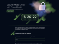 Security Made Simple by Cisco Meraki shapes abstract futuristic stars space reflection padlock nebula metal clouds