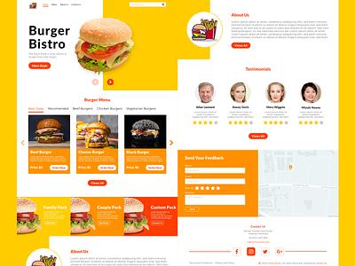 UI Landing Page for Fastfood landingpage webdesign design app ui indonesia designer adobe xd