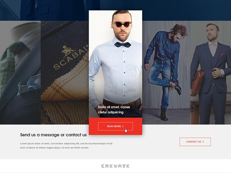 Landing Page Design for Creyate marketing landing page interaction landing page design ui